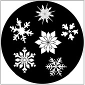 "Snowflakes 1"" Gobo for Eddy Light Gobo Projector"