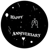 "Anniversary 1"" Gobo for Eddy Light Gobo Projector"
