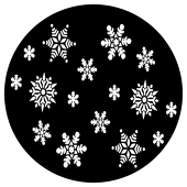 "Falling Snowflakes 1"" Gobo for Eddy Light Gobo Projector"