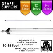 *4 PACK* 10-18ft Telescoping Drape Support w/ No Button Stops