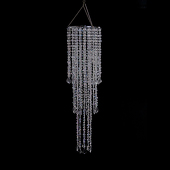 DecoStar™ 10 Inch Diameter Large Multi Diamond Cut Beaded Chandelier in Crystal