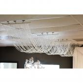 "DecoStar™ 15ft. Crystal Ceiling Draping Panel - 36"" wide"