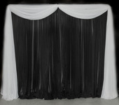 DELUXE Single Panel Standard Backdrop - 8-20ft High