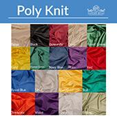 8ft Poly Knit Cloth Drape Panel w/ Sewn Rod Pocket (IFR) by Eastern Mills