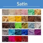 "*FR* 50ft Tall Satin Drape Panel by Eastern Mills (59"" Wide) w/ 4"" Sewn Rod Pocket in Choice of Colors"