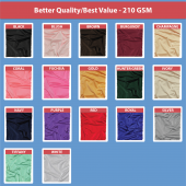 "210 GSM Better Quality/Best Value 72"" Round Spandex Table Cover - Many Color Options !"