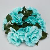 "Decostar™Large Flower Candle Rings 9"" - 48 Pieces - Aqua"