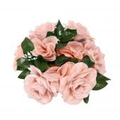 "Decostar™Large Flower Candle Rings 9"" - 48 Pieces - Blush"