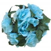 "Decostar™Large Flower Candle Rings 9"" - 48 Pieces - Blue"