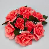 "Decostar™Large Flower Candle Rings 9"" - 48 Pieces - Coral"