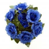 "Decostar™Large Flower Candle Rings 9"" - 48 Pieces - Royal Blue"