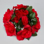 "Decostar™Large Flower Candle Rings 9"" - 48 Pieces - Red"