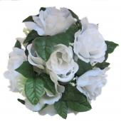 "Decostar™Large Flower Candle Rings 9"" - 48 Pieces - White"