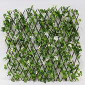 Decostar™ Accordian Ivy Lattice Fence  with Flowers 8'