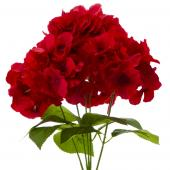"18"" Red Artificial Hydrangea Bouquet - 24 Bunches"