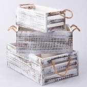 Decostar™ Distressed Wooden Crates - 3 Piece Set - 8 Sets - 24 Pieces!