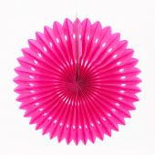 "Decostar™ Hanging Paper Fans- Fuchsia - 16"" - 36 Pieces"