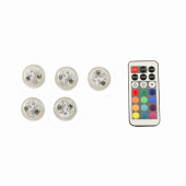 Submersible - RGB - LED Accent Lights w/ on-off switch (5 Pack)