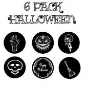 "Halloween 6 Pack - 1"" Gobo for Eddy Light Gobo Projector"