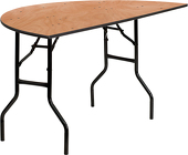 "60"" Half-Round Plywood Banquet Table"