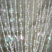 DecoStar™ 6ft Crystal Teardrop Beaded Curtain