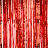 "Decostar™ Sparkling Metallic Foil Fringe Curtain 96"" 12 Pieces - Red"