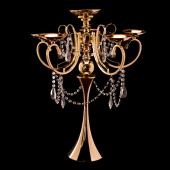 "Decostar™ Candelabra 5 Arm Pillar Candle Holder 27"" - Gold"