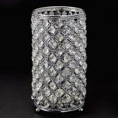 "Decostar™ Vintage Crystal Candle Holder Centerpiece 9 ½"" - Silver"