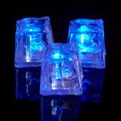 Decostar™ Ice Cubes with Flashing Blue Lights - 144 Pieces