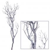 "Decostar™ Manzanita Glitter Tree Branch 47""- Silver - 12 Pieces"