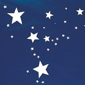 Blue Polyvinyl with White Stars