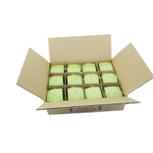 "DecoStar™ Fresh Green 2.75"" x 3"" Square Pillar Candle - Case Of 12"