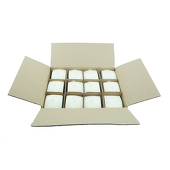 "DecoStar™ Ivory 2.75"" x 3"" Square Pillar Candle - Case Of 12"