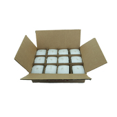 "DecoStar™ White 2.75"" x 3"" Square Pillar Candle - Case Of 12"