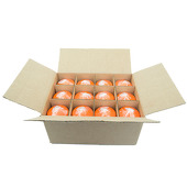 "DecoStar™ Orange 3"" x 6"" Round Pillar Candle - Case Of 12"