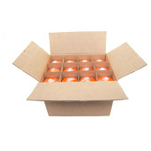 "DecoStar™ Orange 3"" x 9"" Round Pillar Candle - Case Of 12"