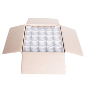 DecoStar™ White 10 Hr Glass Filled Votive Candle - Box Of 25