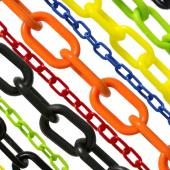 "1.5"" Plastic Chain for Stanchions - 100 FT - Choice of Colors"