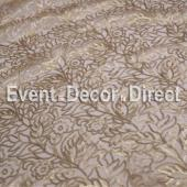 Champagne - Fancy Leaf Sequin Overlay by Eastern Mills - Many Size Options