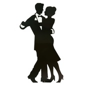 Large Dancing Couple Cut Out Silhouette