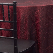 BURGUNDY - *FR* Crushed Taffeta Tablecloth - Many Size Options