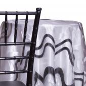 Charcoal - Modern Metallic Sheer Tablecloth - Many Size Options