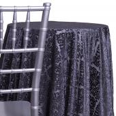 Charcoal - Damask Contemporary Velvet & Sheer Overlay - Many Size Options