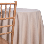 Latte - Designer Fiesta Linen Broad Tablecloth - Many Size Options