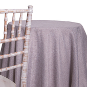 Silver - Designer Fiesta Linen Broad Tablecloth - Many Size Options