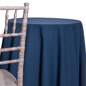 Cobalt - Designer Heavy Avila Linen Broad Tablecloth - Many Size Options