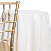 Ivory - Designer Heavy Avila Linen Broad Tablecloth - Many Size Options