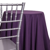 Plum - Designer Heavy Avila Linen Broad Tablecloth - Many Size Options