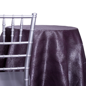 Amethyst - Designer Mardi Gras Linen Broad Tablecloth w/ Brushed Metallic Finish - Many Size Options
