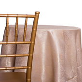 Antique - Designer Mardi Gras Linen Broad Tablecloth w/ Brushed Metallic Finish - Many Size Options